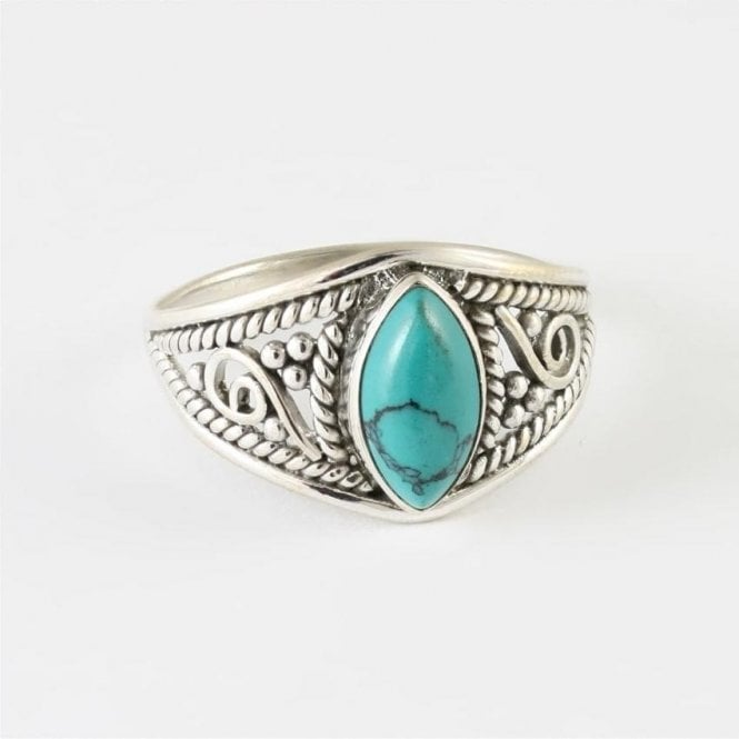 Jo Bali Marquise Turquoise Ring