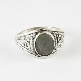 Mia Faceted Oval Labradorite Ring