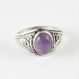 Mia Oval Amethyst Ring