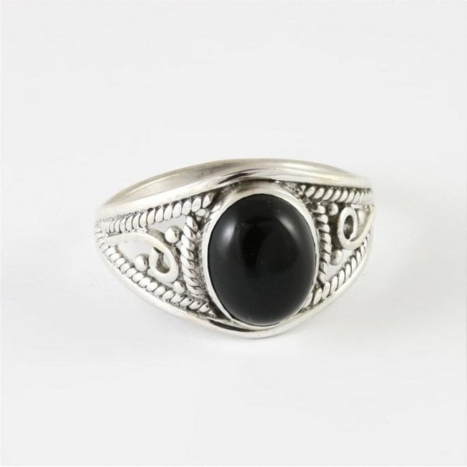Jo Bali Mia Oval Black Onyx Ring