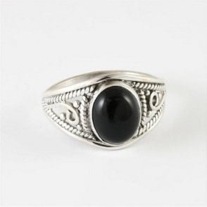 Mia Oval Black Onyx Ring