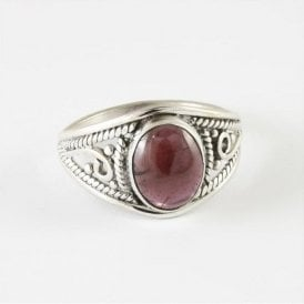 Mia Oval Garnet Ring