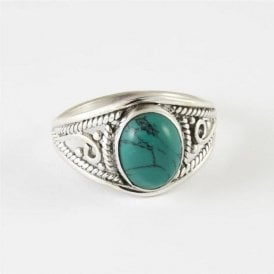 Mia Oval Turquoise Ring
