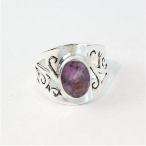 Ornate Faceted Amethyst Ring
