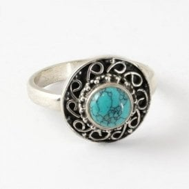 Small Round Turquoise Ring