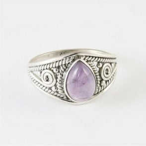 Teardrop Amethyst Ring