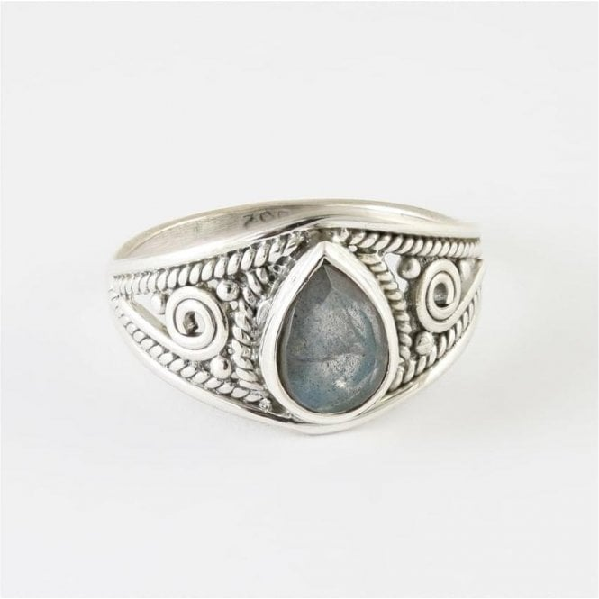 Jo Bali Teardrop Faceted Labradorite Ring