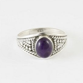 Zinna Oval Amethyst Ring