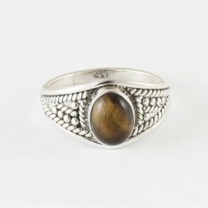Zinna Oval Tigers Eye Ring