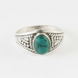 Zinna Oval Turquoise Ring