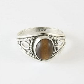 Zola Oval Tigers Eye Ring