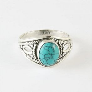 Zola Oval Turquoise Ring