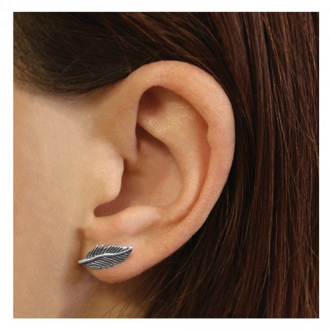 Large Feather Studs