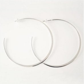 Large Plain Half Hoop Earrings
