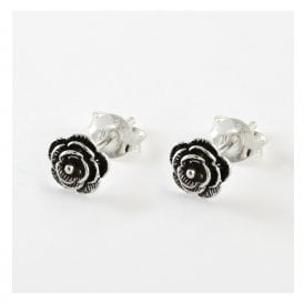 Large Rose Ear Stud
