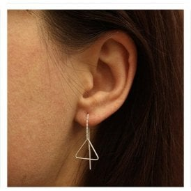 Large Triangle Through Earrings