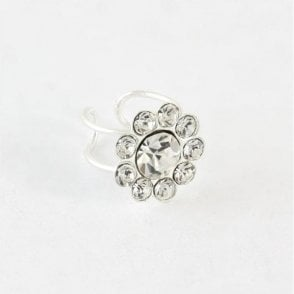 Multigem Flower Ear Cuff