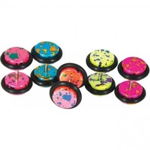 Neon Splatter Fake Plug - 8mm