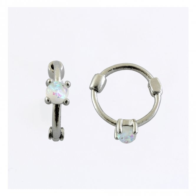 Opal Set Segment Ring - 1.2mm