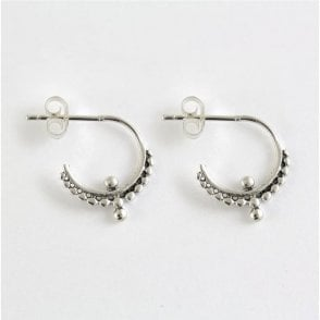 Ornate Half Hoop Earrings