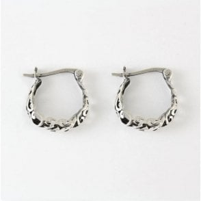 Ornate Hoop Earrings - 16mm