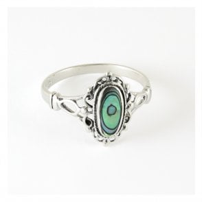 Ornate Ring set with Abalone