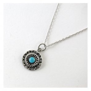 Ornate Round Turquoise Necklace