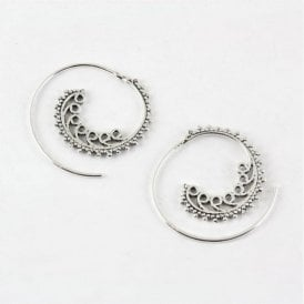 Ornate Swirl Earrings - 30mm