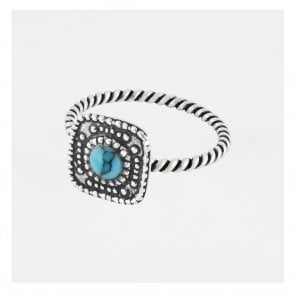 Ornate Twist Ring set with Turquoise