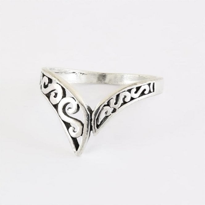 Ornate V Band Ring