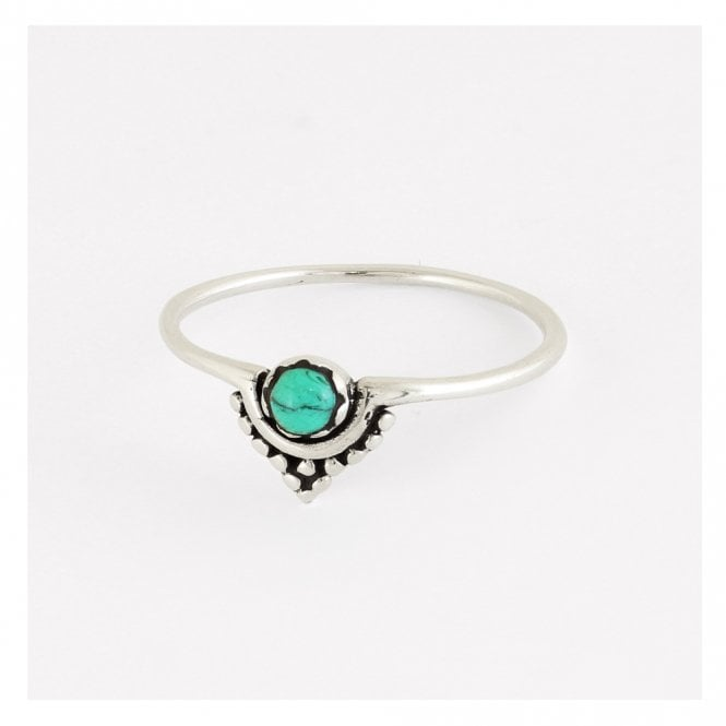 Ornate V Ring set with Turquoise