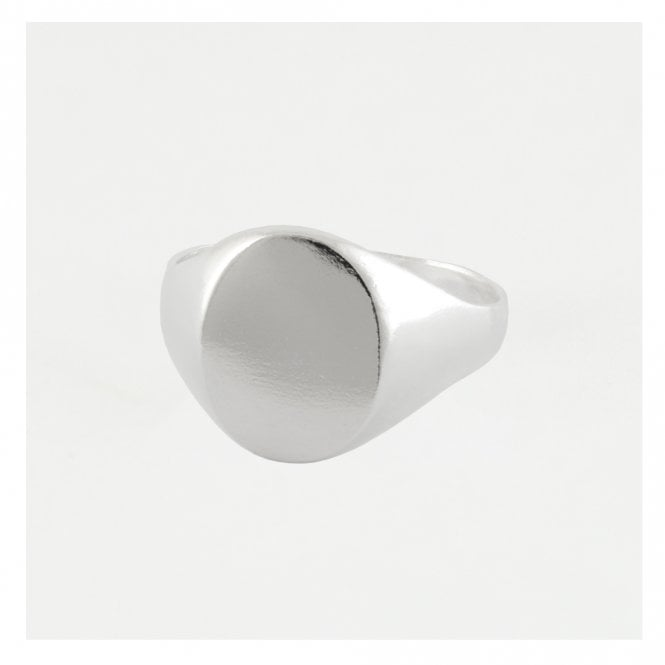 Oval Signet Mens Ring