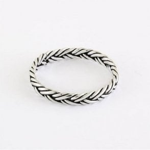 Oxidised Plaited Band Ring
