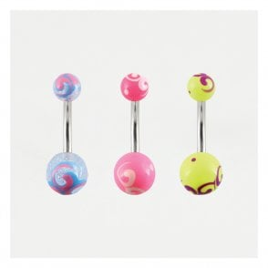Painted Swirl Belly Bar