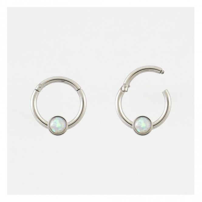 Pearl Hinged Segment Ring - 1.2mm