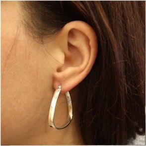 Plain 4mm thick Hoop Earrings - 35mm