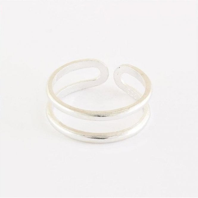 Plain Double Band Toe Ring