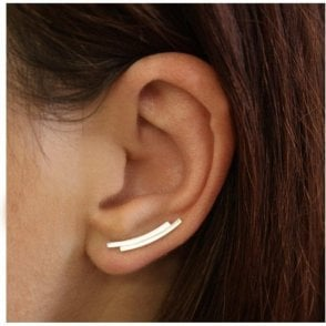 Plain Double Curved Bar Ear Crawler