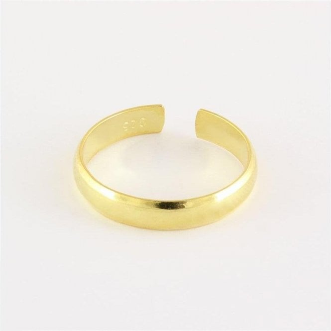 Plain Gold Band Toe Ring