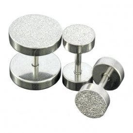 Plain or Glitter Fake Plug 6 - 10mm