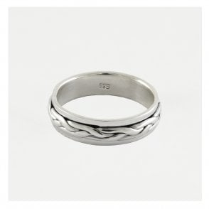Plaited Moving Mens Ring