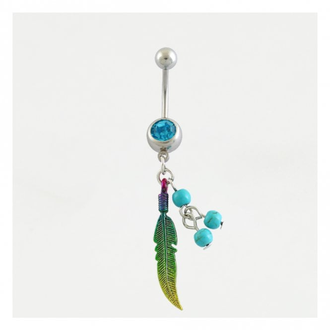 Rainbow Feather & Turquoise Belly Bar