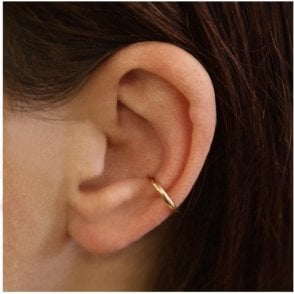 Rose Gold 10mm Plain Band Ear Cuff