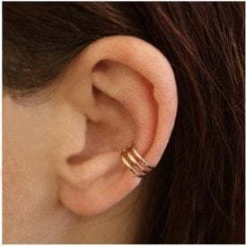 Rose Gold 3 Band Ear Cuff