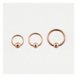 Rose Gold Ball Closure Ring 1.2mm & 1.6mm (BCR)