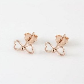 Rose Gold Bow Studs