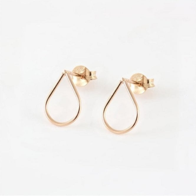 Rose Gold Cut Out Teardrop Studs