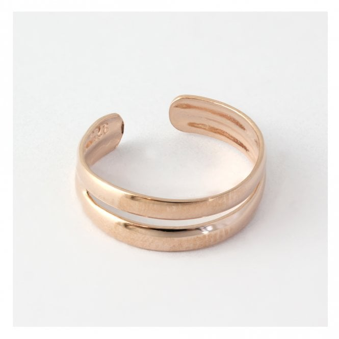 Rose Gold Double Band Toe Ring