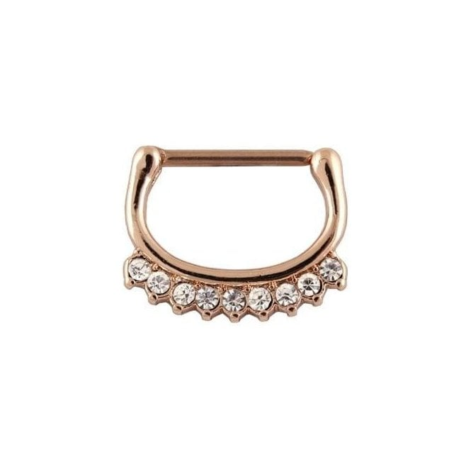 Rose Gold Gemset Nipple Clicker