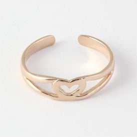 Rose Gold Heart Toe Ring